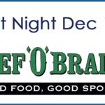 December Spirit Night at Beef O' Brady's