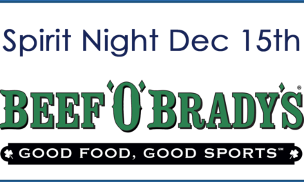 December Spirit Night at Beef O' Brady's