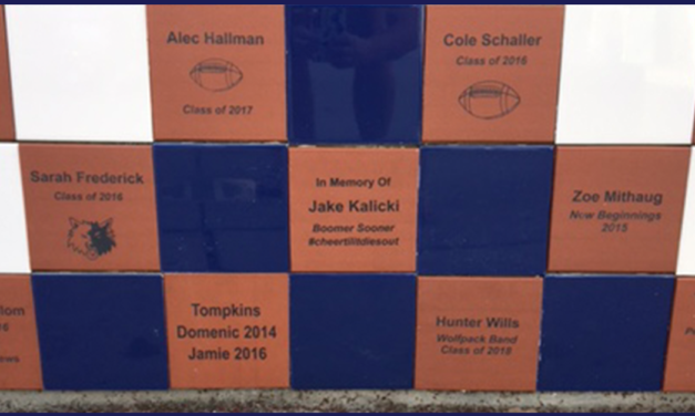 2017 Courtyard Tiles Project Includes Memorial to Beloved Student