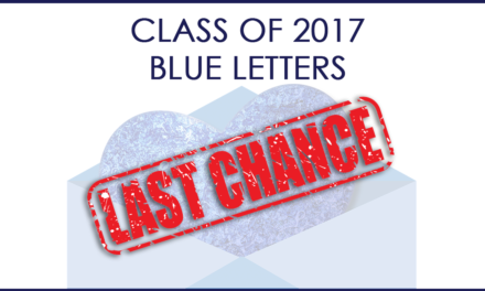 LAST CHANCE for Senior Blue Letters!
