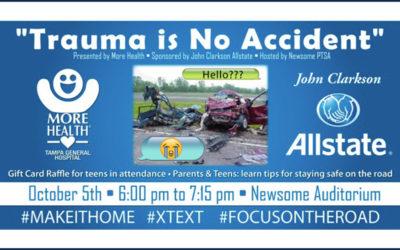 Trauma Is No Accident – PTSA Program October 5th